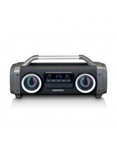 Lenco SPR-100 Bärbar stereohögtalare Grå Lenco SPR-100 - 1