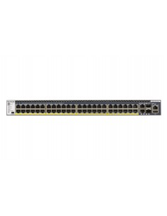 Netgear M4300-52G-PoE+ 1000W PSU Managed L2/L3/L4 Gigabit Ethernet (10/100/1000) Power over (PoE) 1U Black Netgear GSM4352PB-100