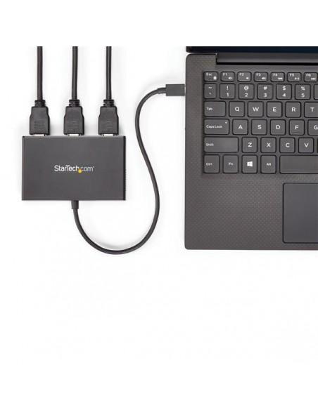 StarTech.com MSTCDP123HD USB-grafikadapter 3840 x 2160 pixlar Svart Startech MSTCDP123HD - 5