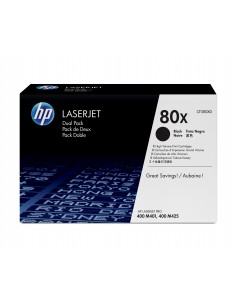 HP 80X 2 kpl Alkuperäinen Musta Hp CF280XD - 1