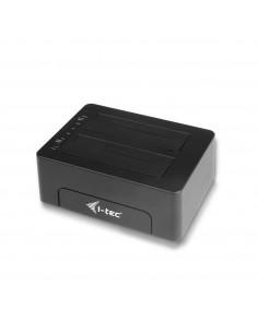 i-tec U3CLONEDOCK tallennusaseman telakointiasema USB 3.2 Gen 1 (3.1 1) Type-B Musta I-tec Accessories U3CLONEDOCK - 1