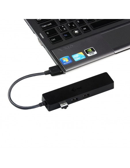 i-tec Advance U3GL3SLIM gränssnittshubbar USB 3.2 Gen 1 (3.1 1) Type-A Svart I-tec Accessories U3GL3SLIM - 5