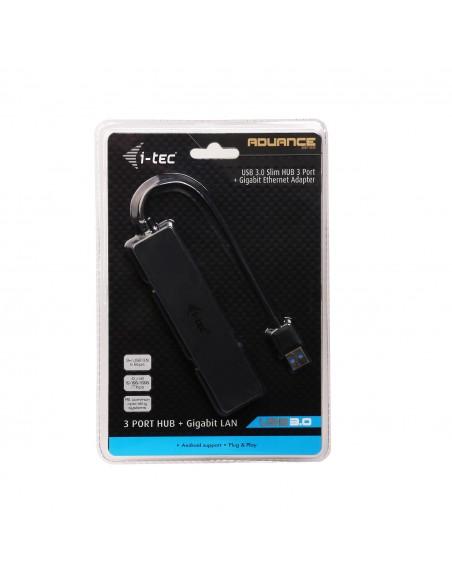i-tec Advance U3GL3SLIM gränssnittshubbar USB 3.2 Gen 1 (3.1 1) Type-A Svart I-tec Accessories U3GL3SLIM - 8