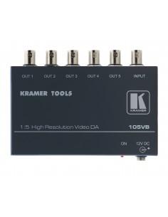Kramer Electronics 105VB linjeförstärkare för video 400 MHz Svart Kramer 90-013590 - 1