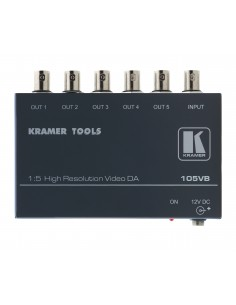 Kramer Electronics 105VB video line amplifier 400 MHz Black Kramer 90-013590 - 1