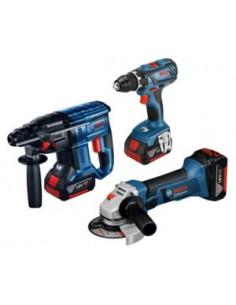 Bosch 18v Profi Set 3 Pcs. Gsr+gbh+gws Bosch 0615990M0W - 1