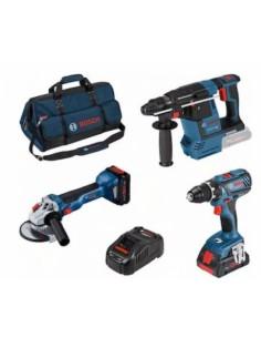 Bosch 18v Profi Set 3 Pcs. Gsr+gws+gbh Bosch 0615990M3C - 1