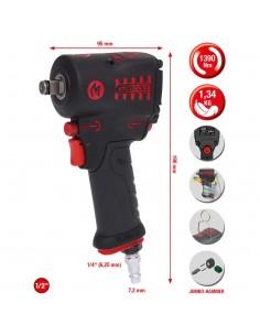 "KS Tools 1/2"" miniMONSTER High Pneumatic Impact Wrench 1.390Nm Ks Tools 515.1270 - 1"