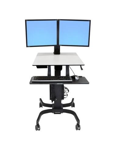 Ergotron WorkFit-C, Dual Sit-Stand Black, Grey Flat panel Multimedia cart Ergotron 24-214-085 - 1