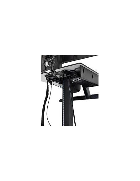 Ergotron WorkFit-C, Dual Sit-Stand Black, Grey Flat panel Multimedia cart Ergotron 24-214-085 - 2