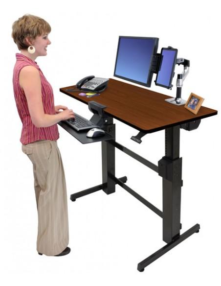 Ergotron WorkFit-D, Sit-Stand Desk tietokonepöytä Kirsikka Ergotron 24-271-927 - 5