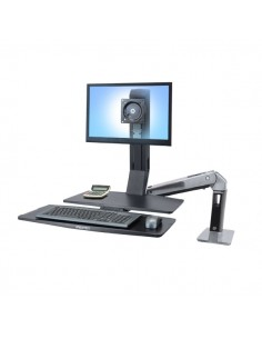 "Ergotron WorkFit -A, Single LD @ Worksurface+ 61 cm (24"") Svart Ergotron 24-317-026 - 1"