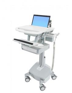 Ergotron StyleView Alumiini, Harmaa, Valkoinen Kannettava tietokone Multimediakärry Ergotron SV44-1112-2 - 1