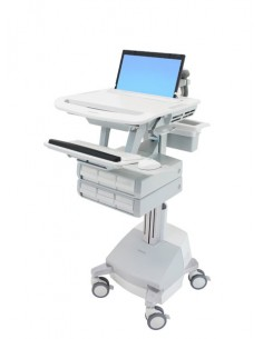 Ergotron StyleView Aluminium, Grey, White Notebook Multimedia cart Ergotron SV44-1161-2 - 1