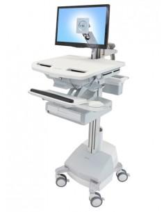 Ergotron StyleView Aluminium, Grey, White Flat panel Multimedia cart Ergotron SV44-1211-2 - 1
