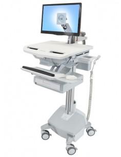 Ergotron StyleView Aluminium, Grey, White Flat panel Multimedia cart Ergotron SV44-1212-2 - 1