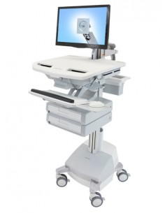Ergotron StyleView Aluminium, Grey, White Flat panel Multimedia cart Ergotron SV44-1221-2 - 1