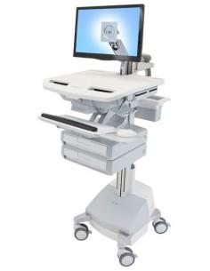 Ergotron SV44-1221-C multimedialaitteiden kärry ja teline Alumiini, Harmaa, Valkoinen Litteä paneeli Multimediakärry Ergotron SV