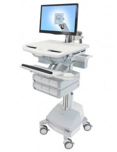 Ergotron StyleView Aluminium, Grey, White Flat panel Multimedia cart Ergotron SV44-1261-2 - 1