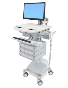Ergotron StyleView Aluminium, Grey, White Flat panel Multimedia cart Ergotron SV44-1291-2 - 1