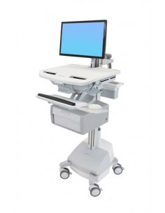Ergotron StyleView White Flat panel Multimedia cart Ergotron SV44-12B1-2 - 1