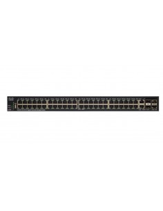 Cisco SG350X-48 48-PORT Hallittu L3 Gigabit Ethernet (10/100/1000) 1U Musta Cisco SG350X-48-K9-EU - 1