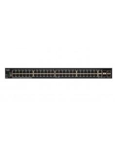 Cisco SG350X-48 48-PORT hanterad L3 Gigabit Ethernet (10/100/1000) 1U Svart Cisco SG350X-48-K9-EU - 1