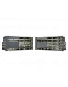Cisco Catalyst WS-C2960+24LC-L nätverksswitchar hanterad L2 Fast Ethernet (10/100) Strömförsörjning via (PoE) stöd Svart Cisco W