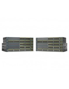Cisco Catalyst WS-C2960+48TC-L network switch Managed L2 Fast Ethernet (10/100) Black Cisco WS-C2960+48TC-L - 1
