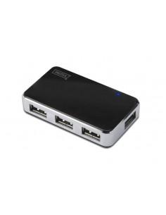 Digitus DA-70220 gränssnittshubbar 480 Mbit/s Svart, Silver Digitus DA-70220 - 1