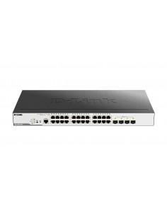 D-Link DGS-3000-28LP verkkokytkin Hallittu L2 Gigabit Ethernet (10/100/1000) Power over -tuki 1U Musta D-link DGS-3000-28LP - 1