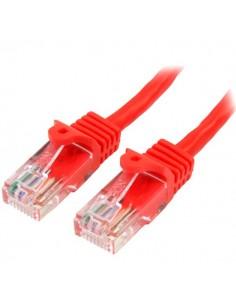 StarTech.com 45PAT50CMRD verkkokaapeli Punainen 0.5 m Cat5e U/UTP (UTP) Startech 45PAT50CMRD - 1