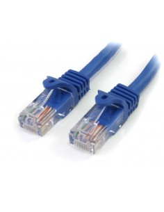 StarTech.com 45PAT5MBL nätverkskablar Blå 5 m Cat5e U/UTP (UTP) Startech 45PAT5MBL - 1