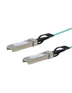 StarTech.com Cisco SFP-10G-AOC5M Compatible 5m/16.4ft 10G SFP+ to AOC Cable - 10GbE Active Optical Fiber 10Gbps SFP Plus/Mini St