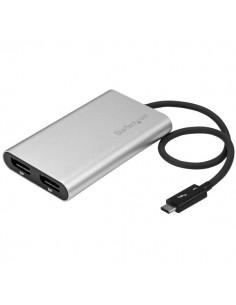 StarTech.com Thunderbolt 3 to Dual DisplayPort Adapter - 4K 60 Hz Windows Only Compatible Startech TB32DP2 - 1