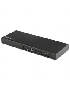 StarTech.com Thunderbolt 3 Dock - Dual Monitor 4K 60Hz TB3 Laptop Docking Station with DisplayPort PCIe M.2 NVMe SSD Enclosure S