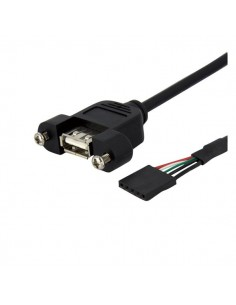 StarTech.com 3 ft Panel Mount USB Cable - A to Motherboard Header F/F Startech USBPNLAFHD3 - 1