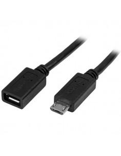 StarTech.com USBUBEXT50CM USB-kaapeli 0.5 m USB 2.0 Micro-USB B Musta Startech USBUBEXT50CM - 1