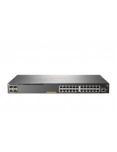 Hewlett Packard Enterprise Aruba 2930F 24G PoE+ 4SFP+ Hallittu L3 Gigabit Ethernet (10/100/1000) Power over -tuki 1U Harmaa Hp J