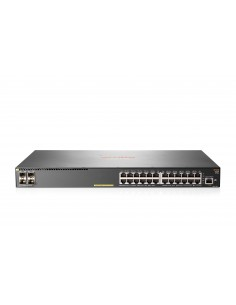Hewlett Packard Enterprise Aruba 2930F 24G PoE+ 4SFP+ TAA Hallittu L3 Gigabit Ethernet (10/100/1000) Power over -tuki 1U Harmaa