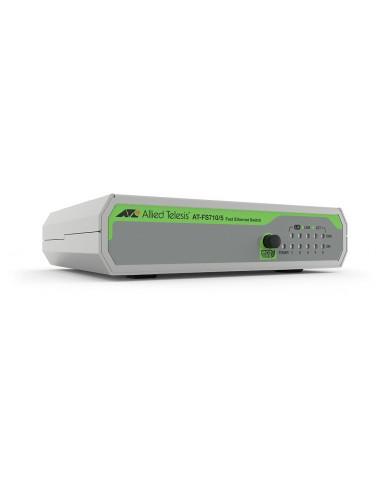 Allied Telesis FS710/5 Hallitsematon Fast Ethernet (10/100) Vihreä, Harmaa Allied Telesis AT-FS710/5-30 - 1