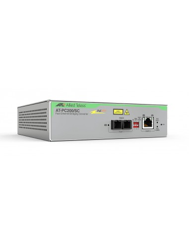 Allied Telesis AT-PC200/SC-60 network media converter 100 Mbit/s 1310 nm Multi-mode Grey Allied Telesis AT-PC200/SC-60 - 1