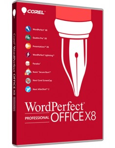 Corel WordPerfect Office X8 Professional 1 lisenssi(t) Monikielinen Corel LCWPX8PROMLUG1 - 1