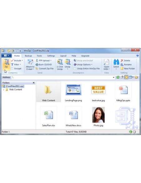 Corel WinZip 15 Pro, 10000-24999U, EN Corel LCWZ15PROENK - 2