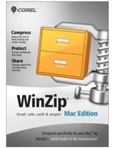 Corel WinZip Mac Edition, 2-9u, 1Y, MNT Corel LCWZMACENMNT1A - 1