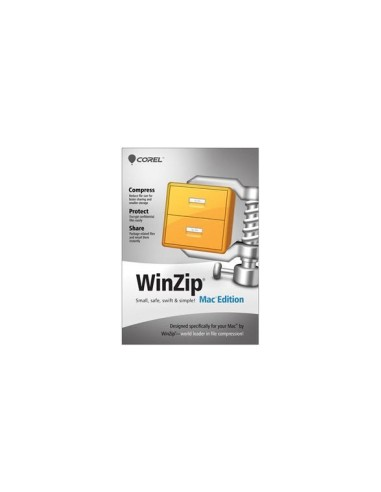 Corel WinZip Mac Edition, 100-199u, 1Y, MNT Corel LCWZMACENMNT1E - 1
