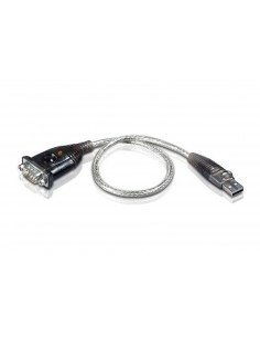 Aten UC232A1-AT cable gender changer USB RS-232 Svart, Metallisk Aten UC232A1-AT - 1