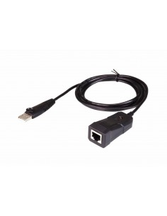 Aten UC232B-AT cable gender changer USB RJ-45 (RS-232) Svart Aten UC232B-AT - 1
