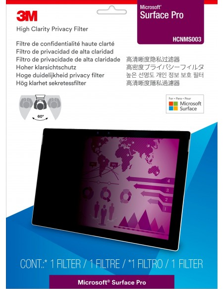 3M High Clarity Privacy Filter for Microsoft® Surface® Pro 3m 7100143107 - 2