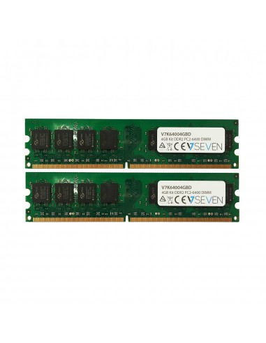 V7 V7K64004GBD muistimoduuli 4 GB 2 x DDR2 800 MHz V7 Ingram Micro V7K64004GBD - 1